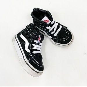 Vans Sk8-Hi Infant Boy Girls Black White